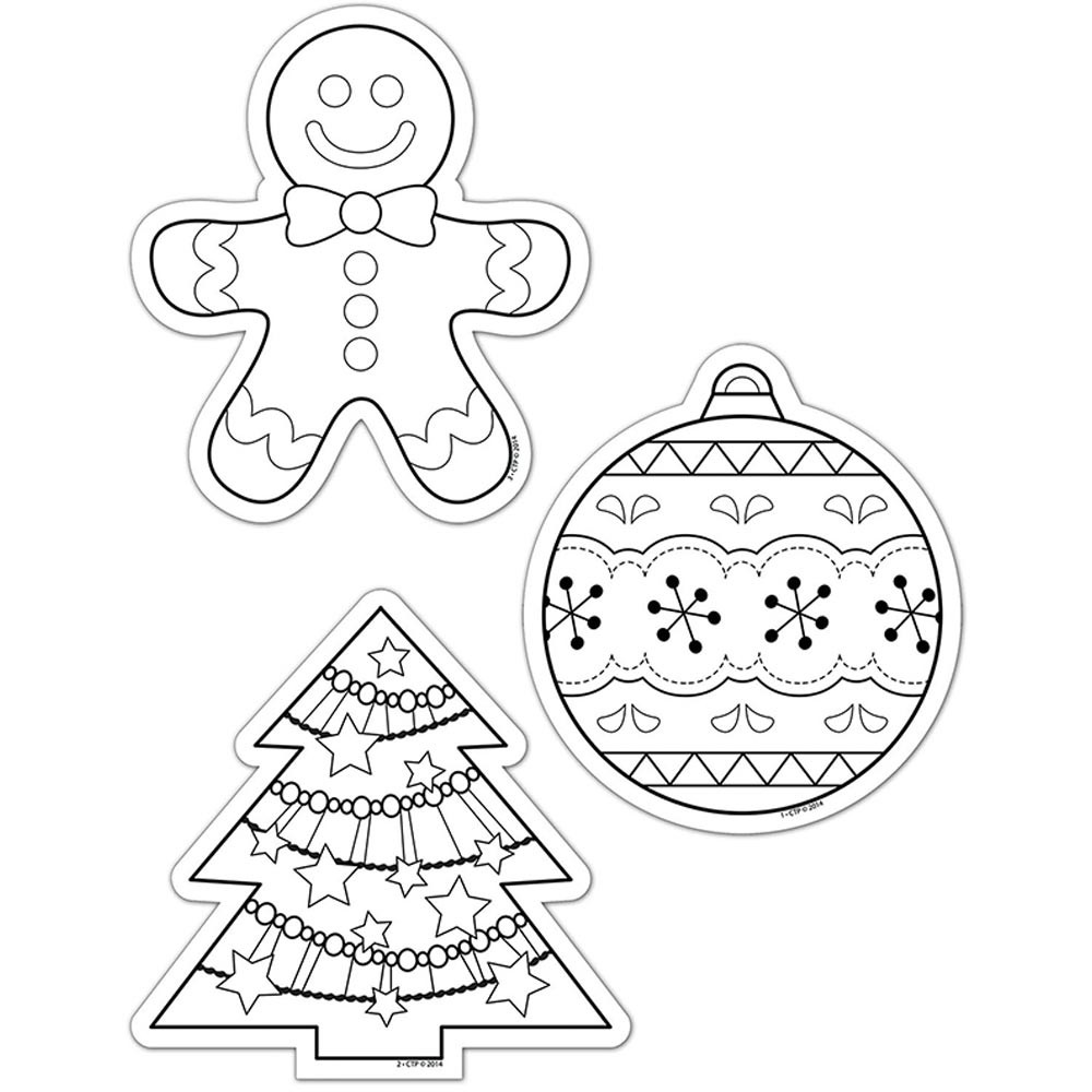 "Color-Me Holiday 6"" Designer Cut-Outs - CTP5850"