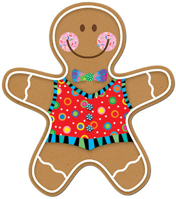 CTP5889 - Gingerbread Man 6In Cut Outs in Holiday/seasonal