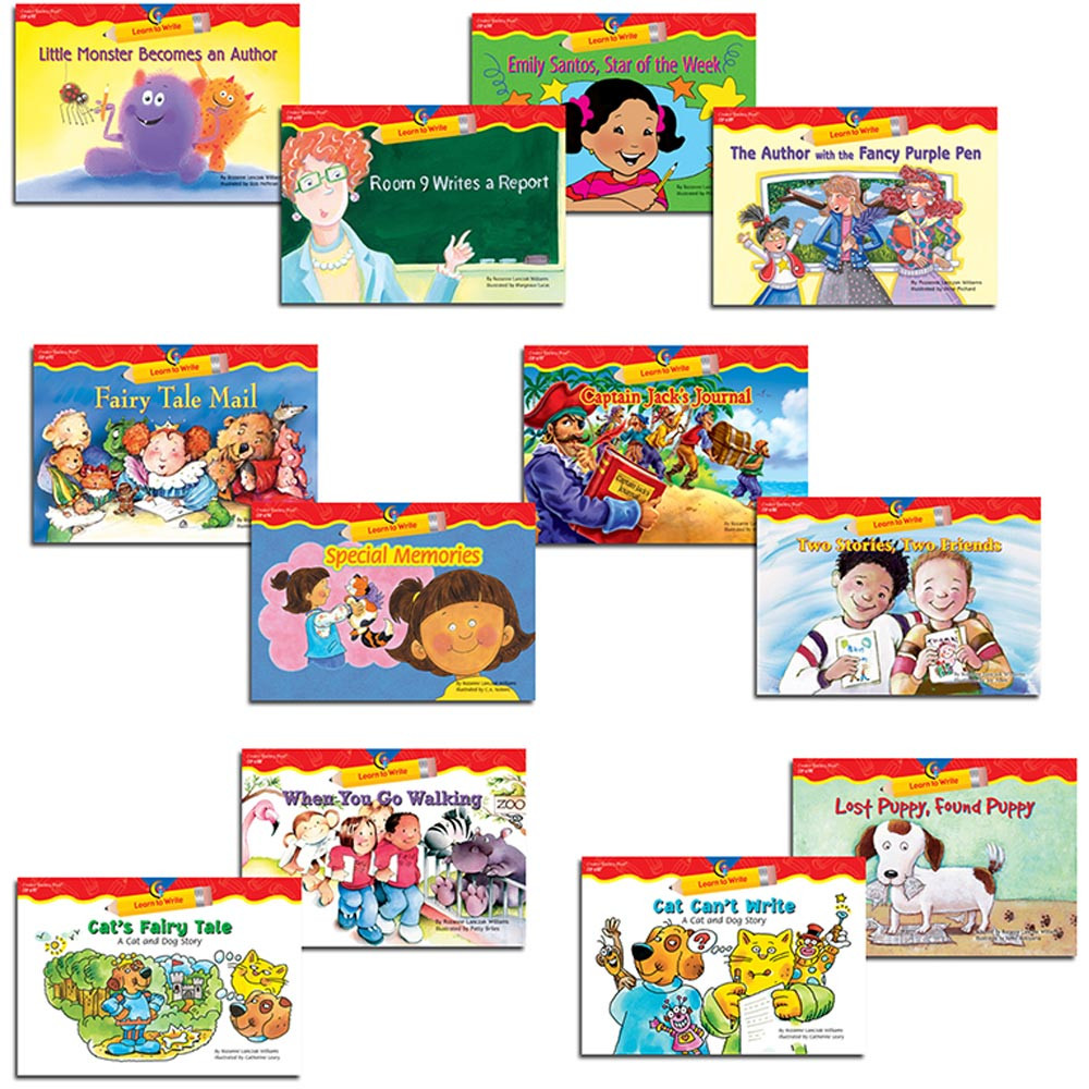 CTP6230 - Learn To Write Readers Gr 1-2 Variety Pk in Writing Skills