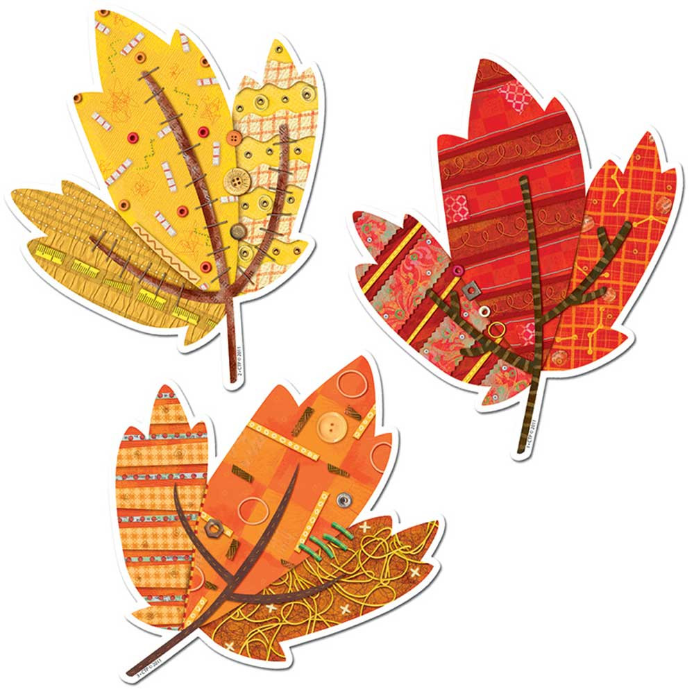 CTP6246 - Autumn Leaves 10In Designer Cut-Outs in Holiday/seasonal