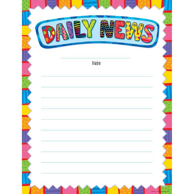 CTP6424 - Daily News Chart in Classroom Theme