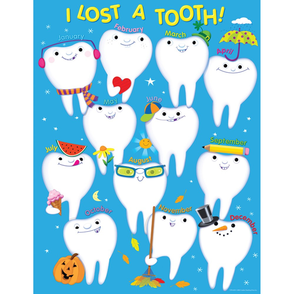 CTP6429 - I Lost A Tooth Chart in Miscellaneous