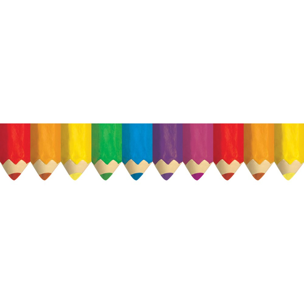 CTP6475 - Colored Pencils Borders in Border/trimmer