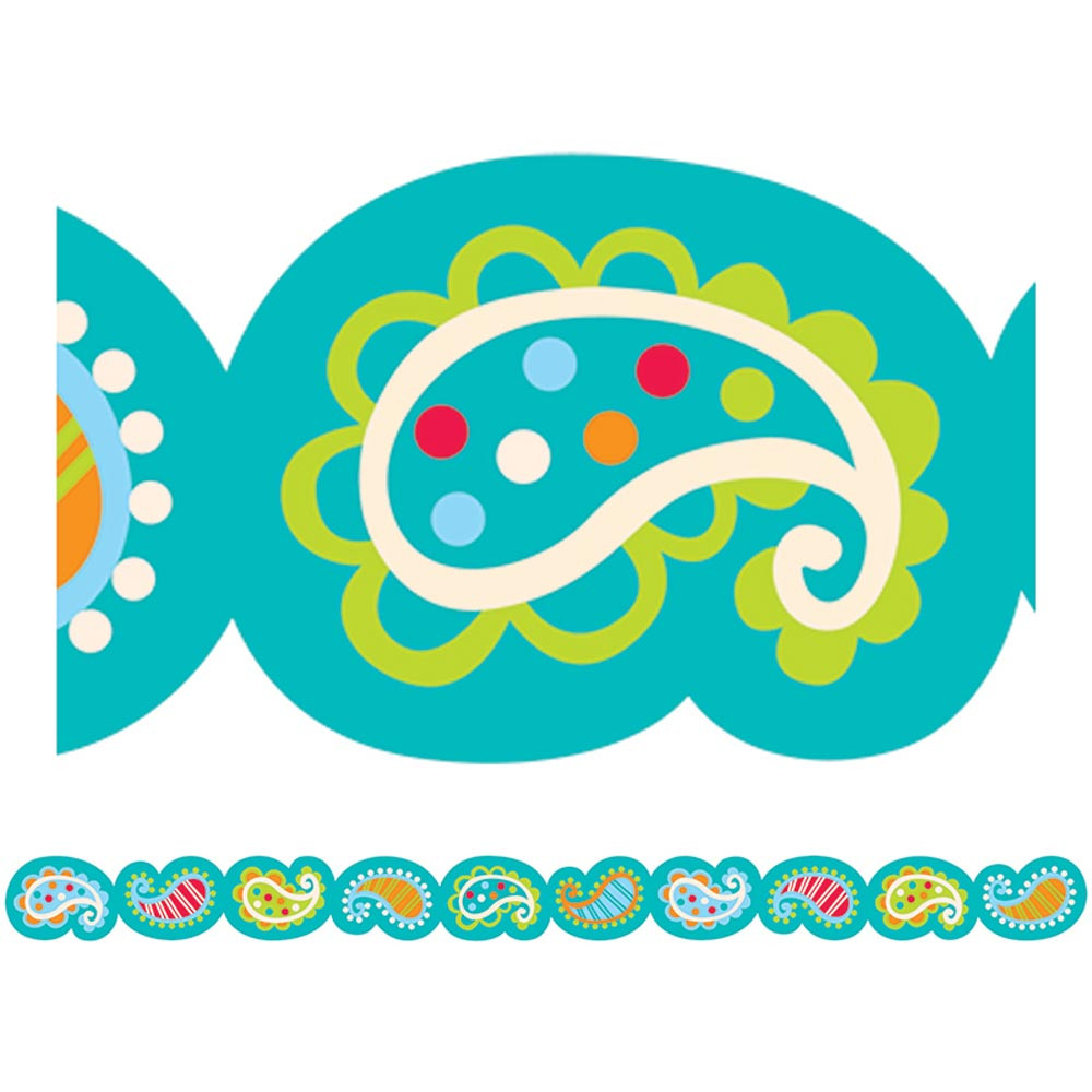 CTP6512 - Playful Paisley Border in Border/trimmer