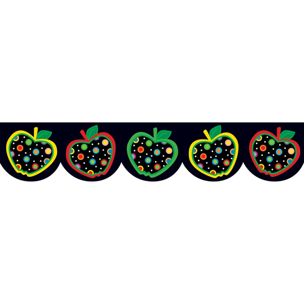 CTP6515 - Dots On Black Apples Border in Border/trimmer
