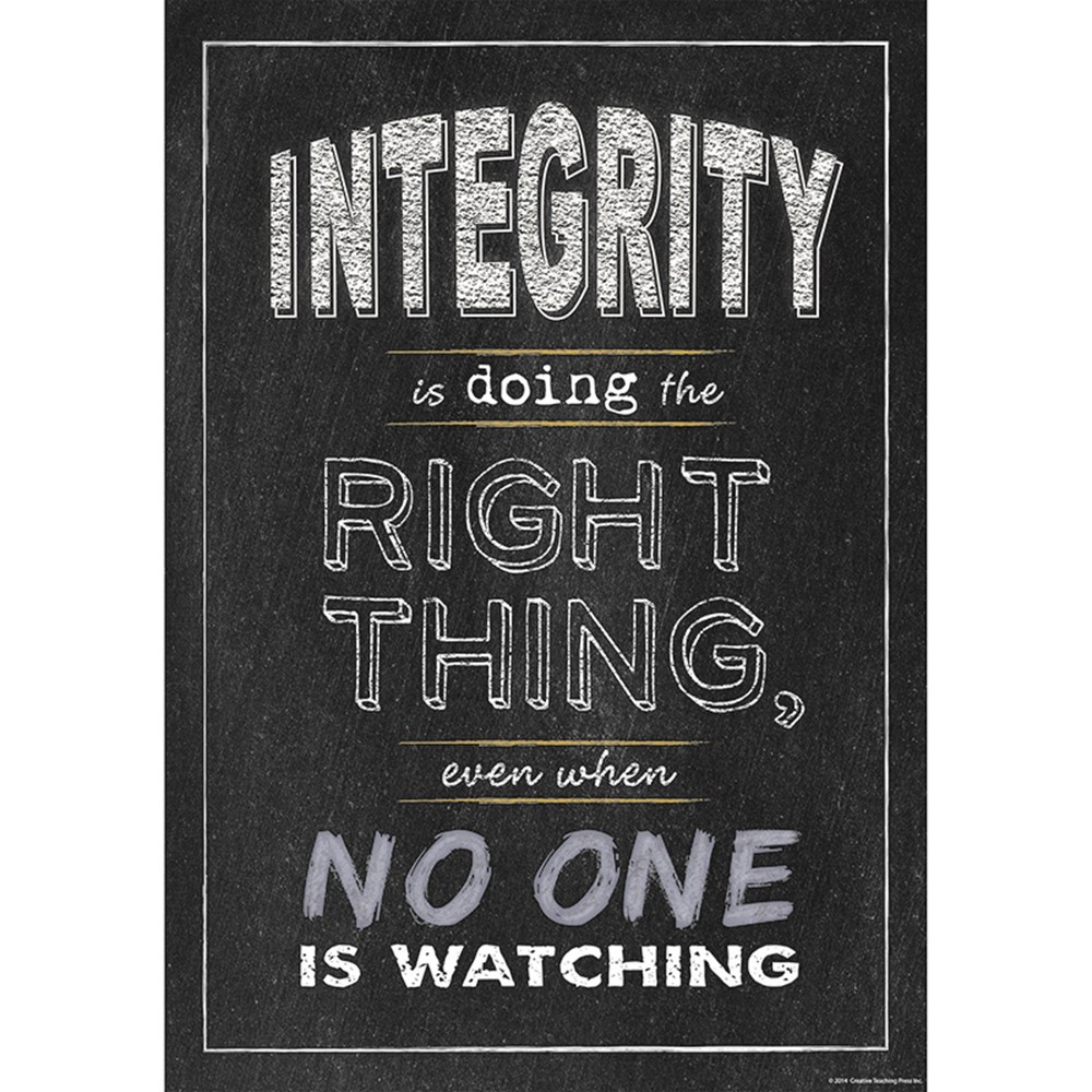 Integrity Inspire U Poster - CTP6680 | Creative Teaching ...