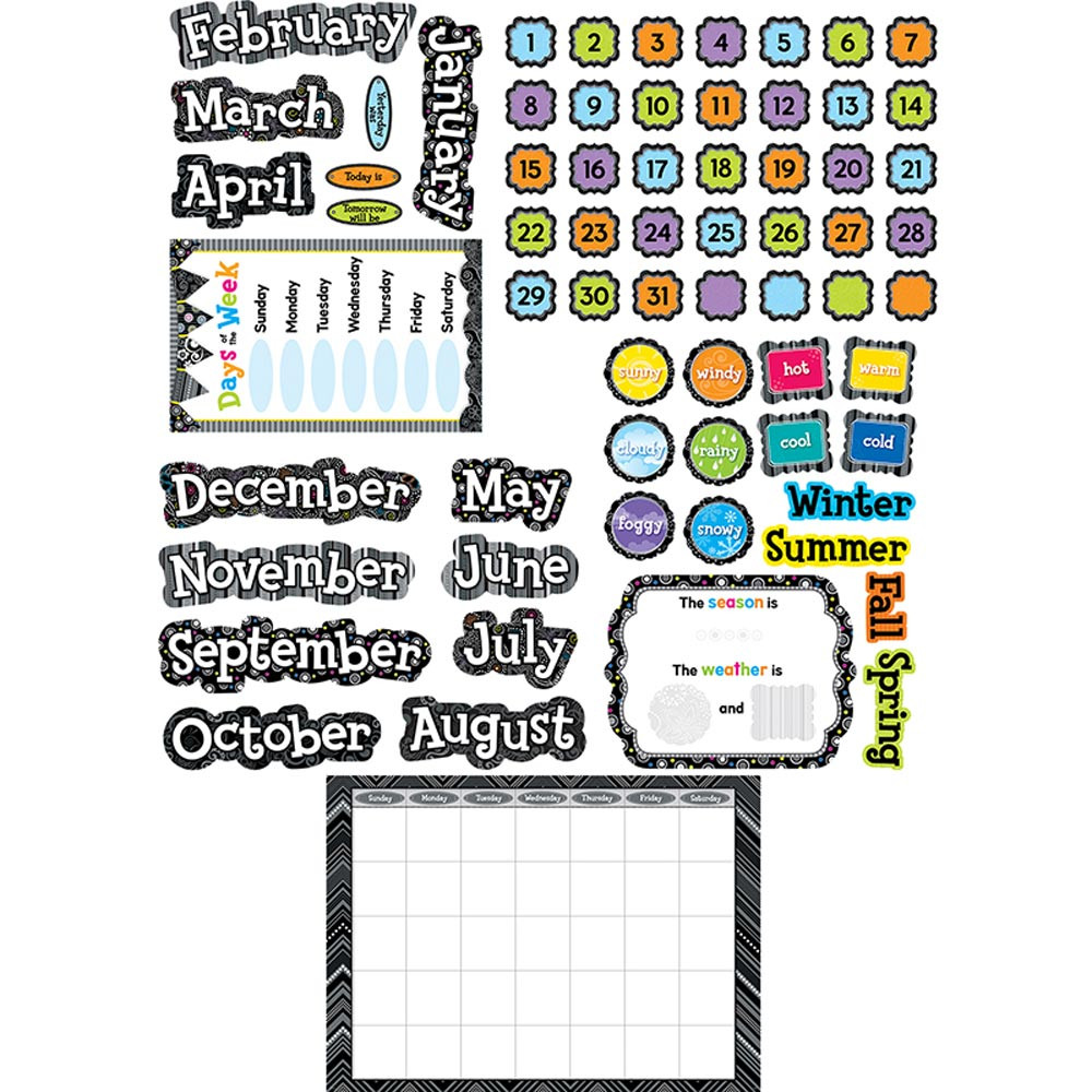 Classroom Calendar Bulletin Board Set : Bw calendar set ctp creative teaching press