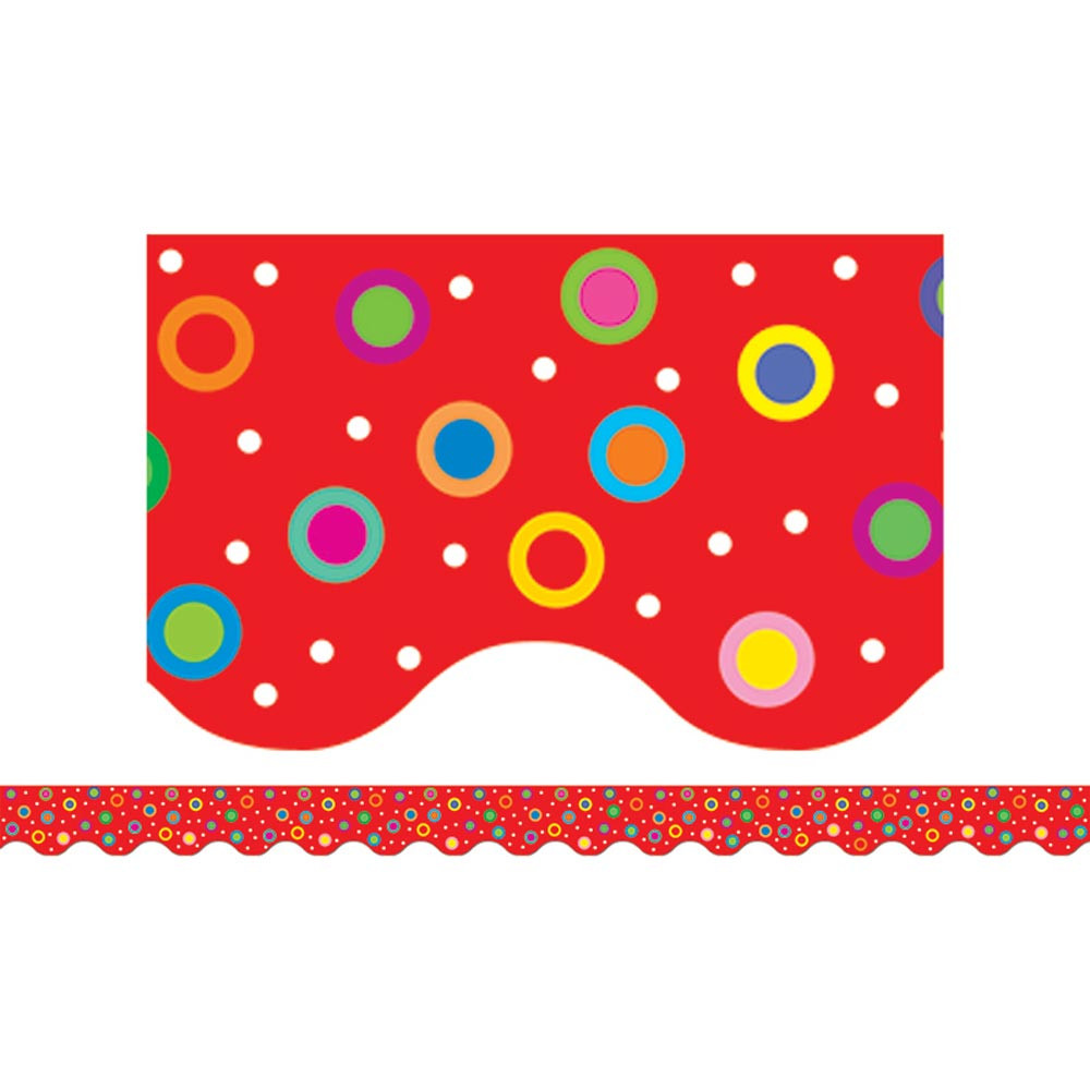 CTP7131 - Dots On Red Wavy Border in Border/trimmer