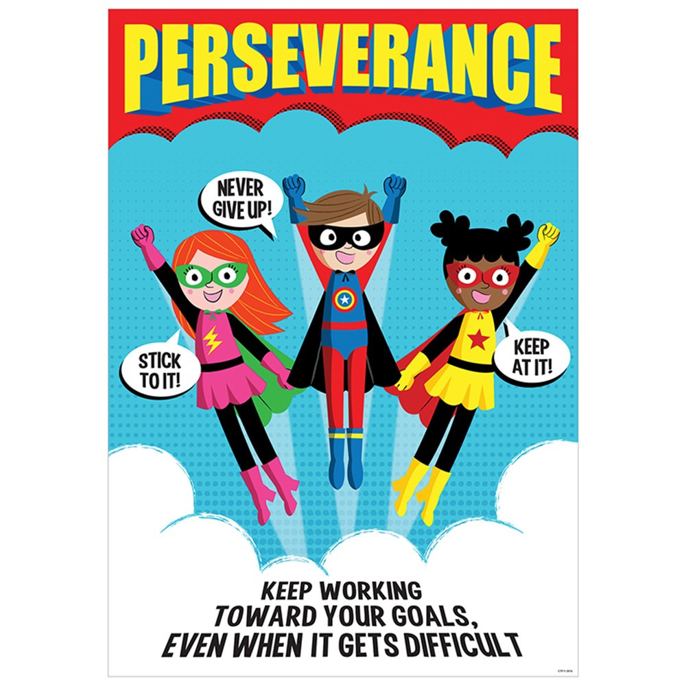 Persistence Motivational Quotes: Perseverance Superhero Poster Inspire U