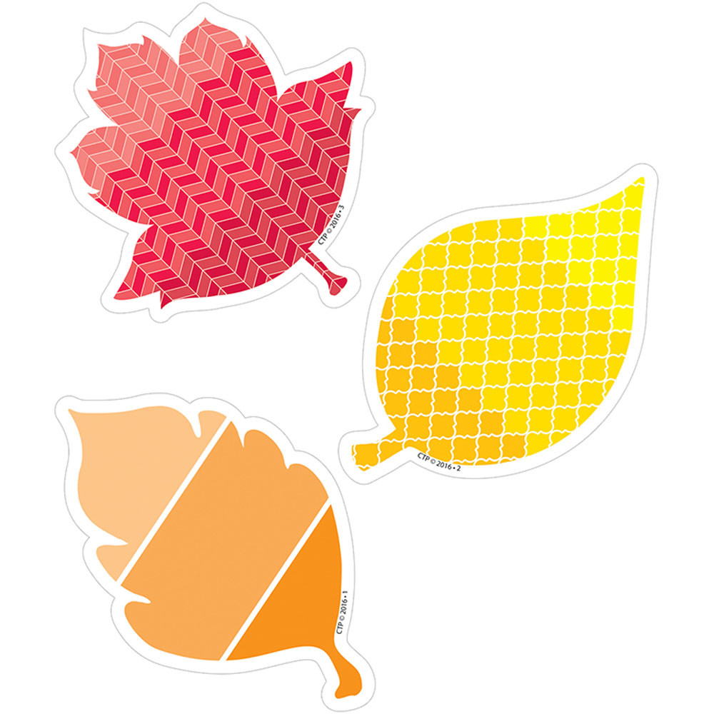 - Painted Palette Fall Leaves Cutouts 3 In - CTP8078 Creative
