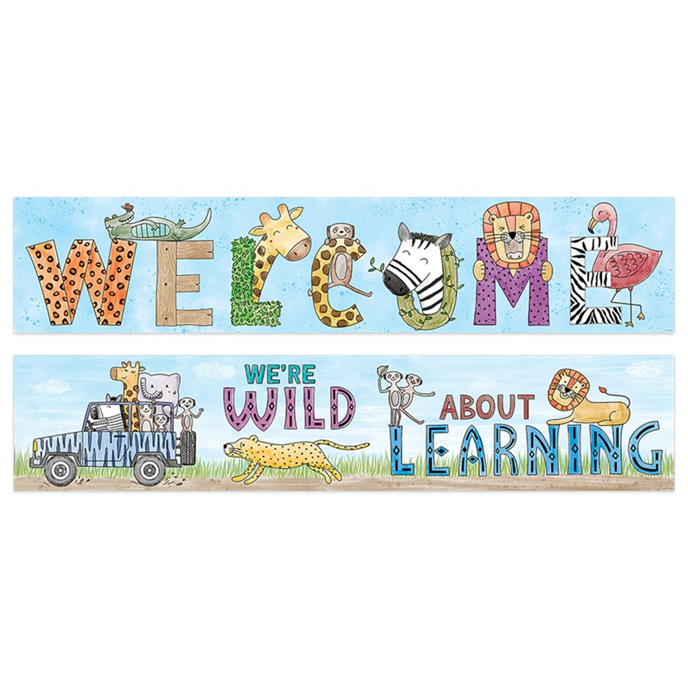 Safari Friend 2 Side Welcome Banner - CTP8153 | Creative ...