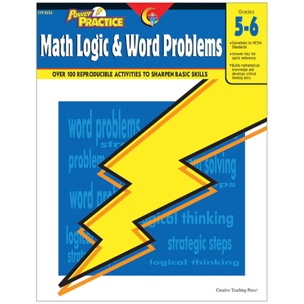 CTP8335 - Math Logic & Word Problems Gr 5-6 in Activity Books