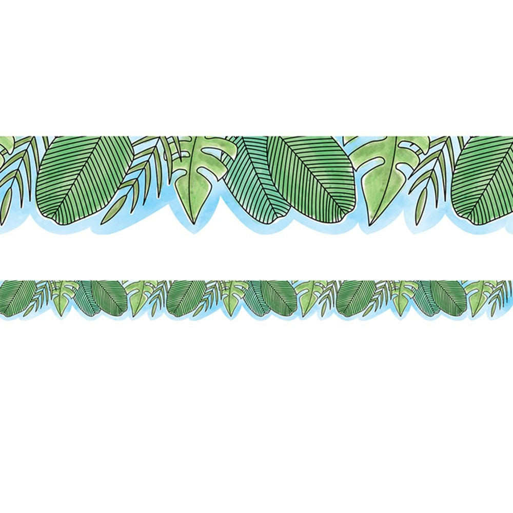 Safari Friends Jumbo Leaves Border Ctp8336 Creative
