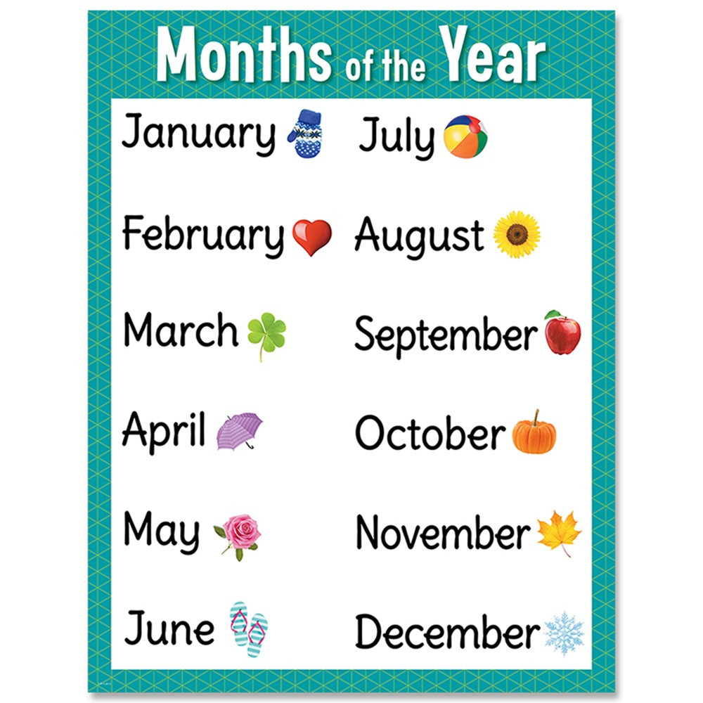 It is a graphic of Exceptional Printable Months of the Year