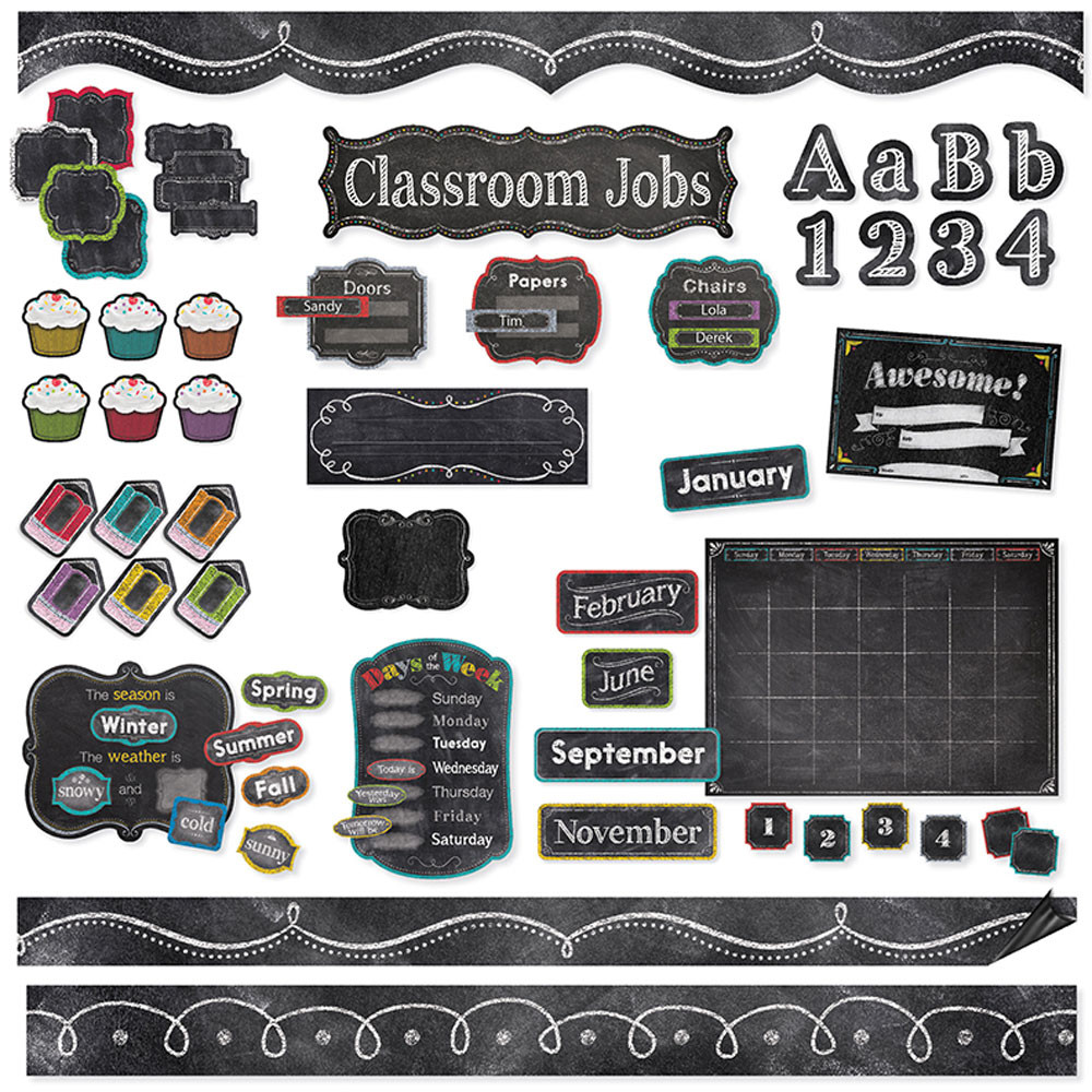 CTP8881 - Chalk It Up Classroom Collection in Classroom Theme