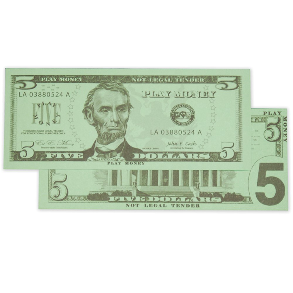 CTU7519 - $5 Bills Set 100 Bills in Money