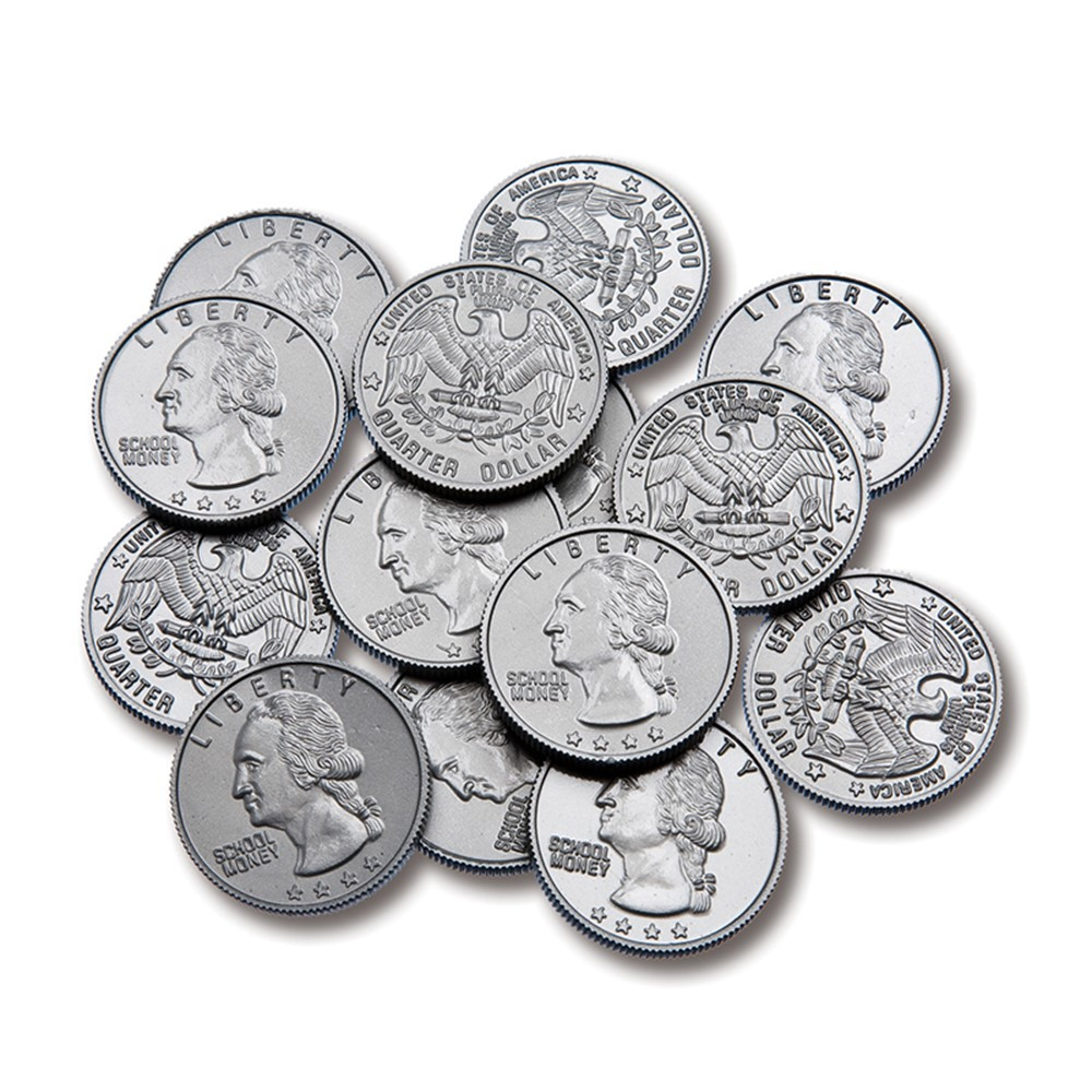 CTU7524 - Plastic Coins 100 Quarters in Money
