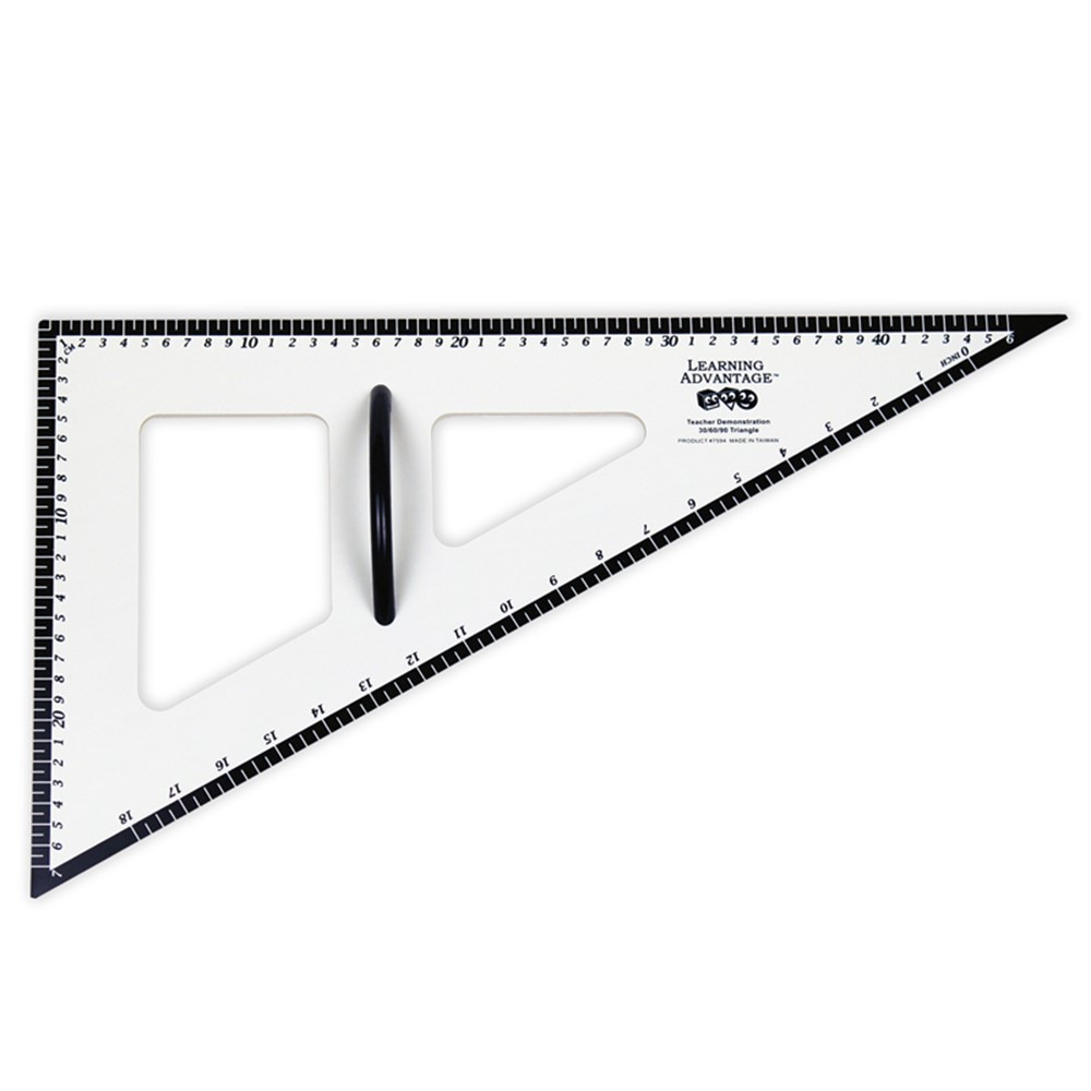 CTU7594 - Dry Erase Magnetic Triangle 30/60/90 in Drawing Instruments