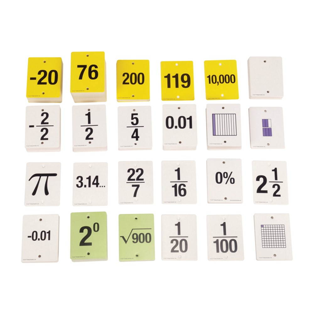 CTU7989 - Fun Empty Number Line Cards Only Gr 6-8 in Numeration