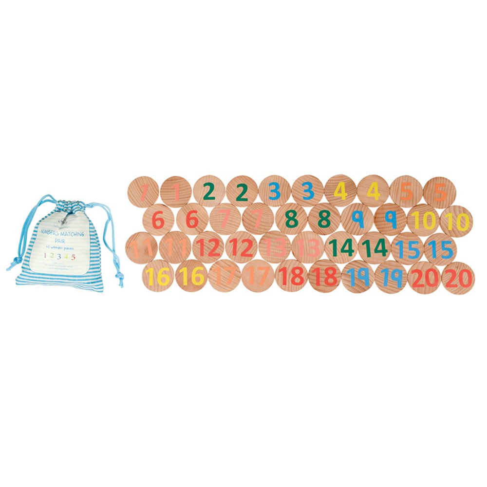 Numbers 1-20 Matching Pairs Memory Game - CTUFF3005 | Learning Advantage | Patterning