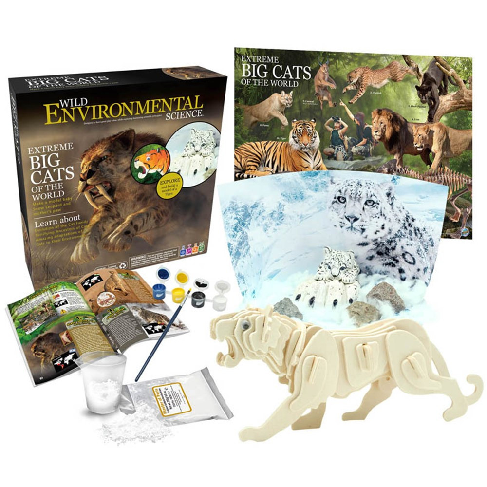 Extreme Science Kit, Big Cats of the World - CTUWES947   Learning Advantage   Animal Studies