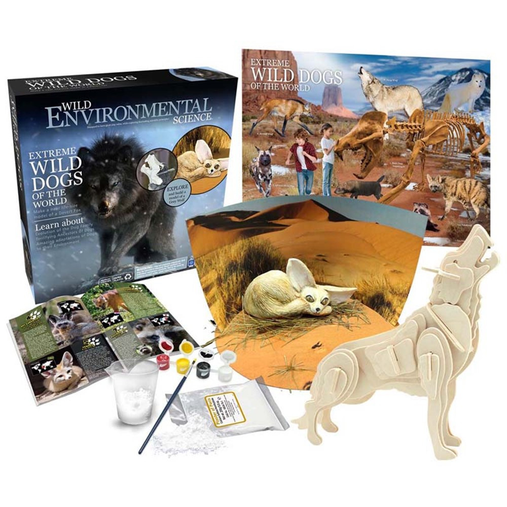 Extreme Science Kit, Wild Dogs of the World - CTUWES948 | Learning Advantage | Animal Studies