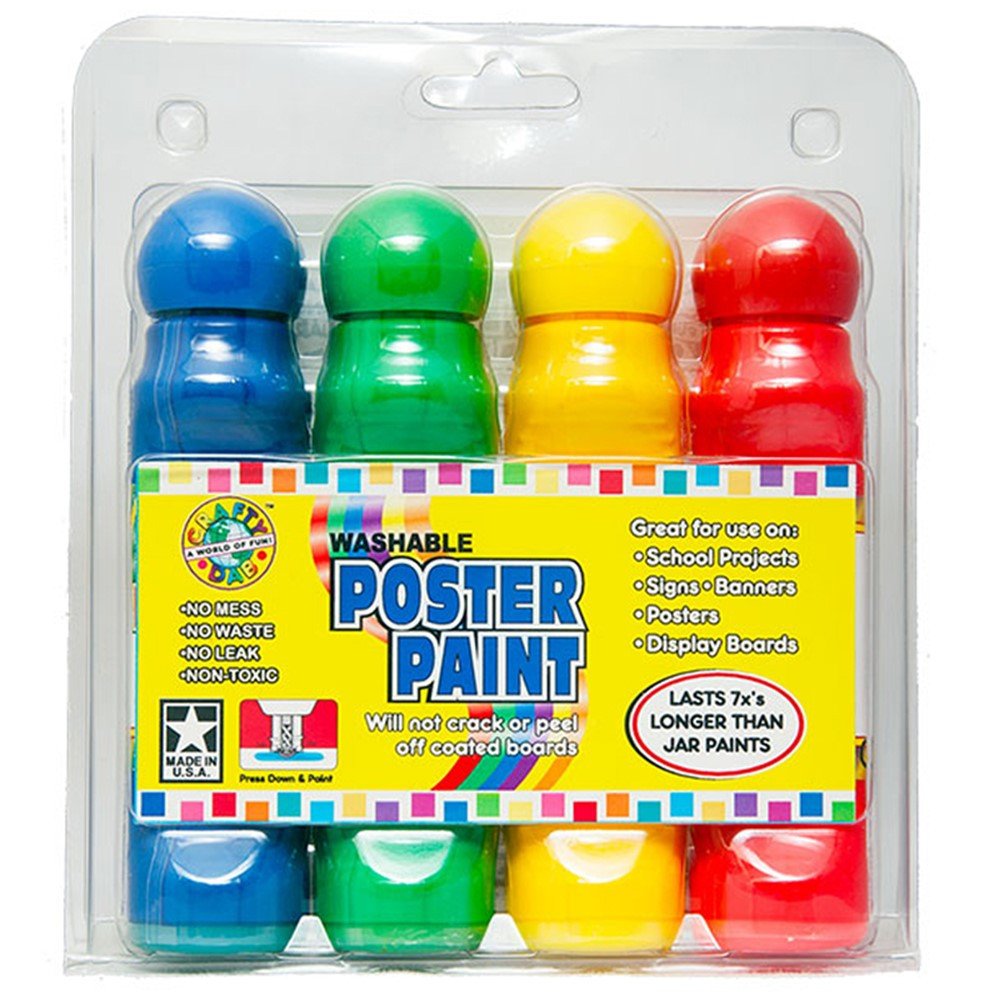 CV-78819 - Poster Paint 4 Pack Clamshell in Paint