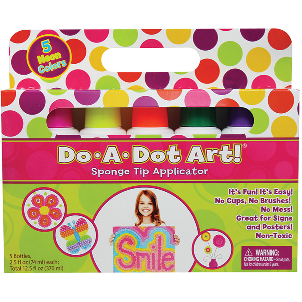 DAD105 - Do-A-Dot Art Fluorescent 5 Pack in Markers