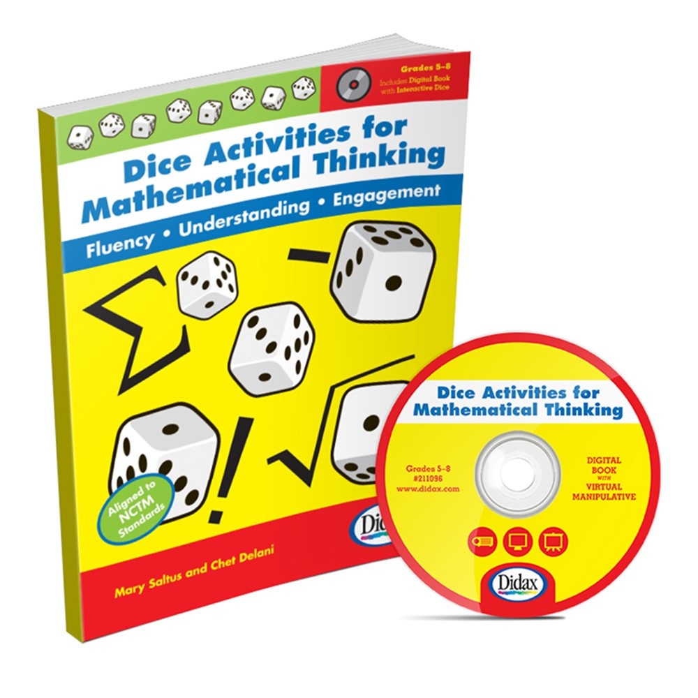 DD-211096 - Dice Activities For Mathematical Thinking Resource Book in Unifix