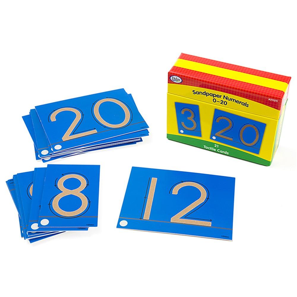 DD-211211 - Tactile Sandpaper Number Cards 0-20 in Sensory Development