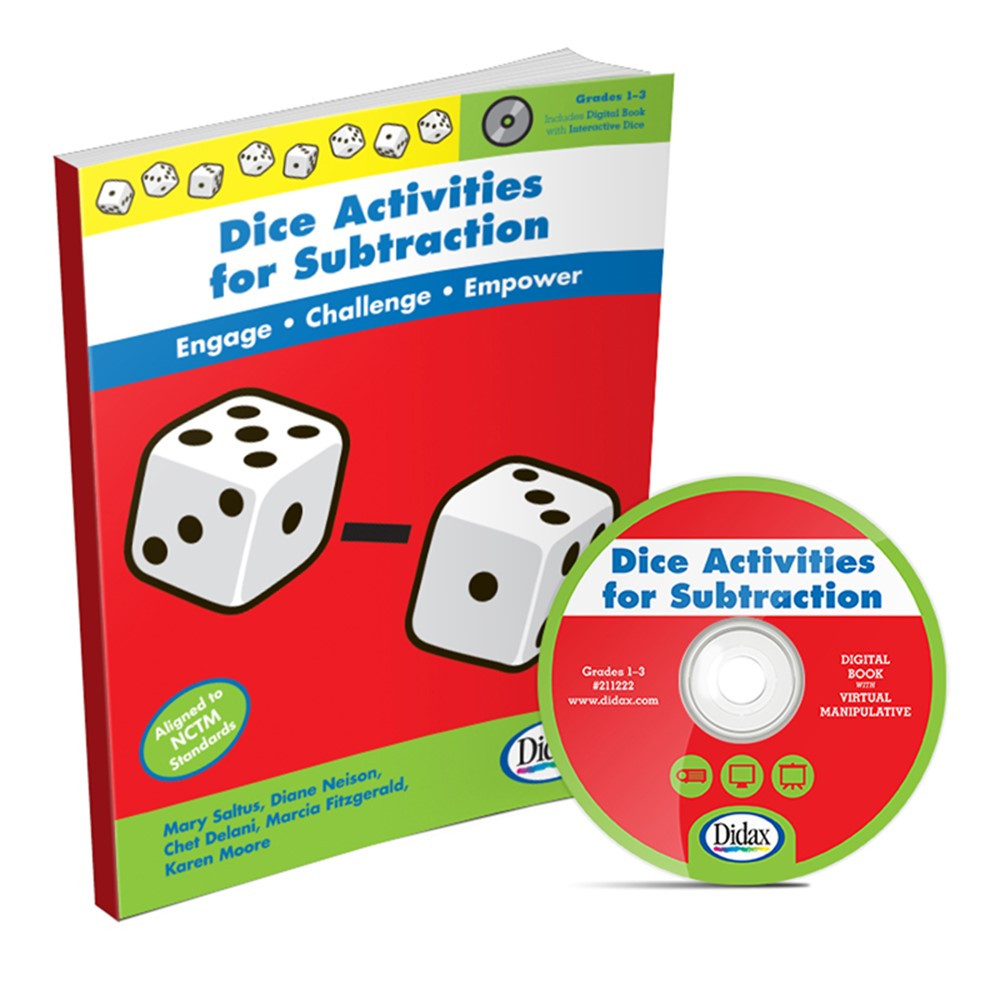 DD-211222 - Dice Activities For Subtraction Resource Book in Unifix