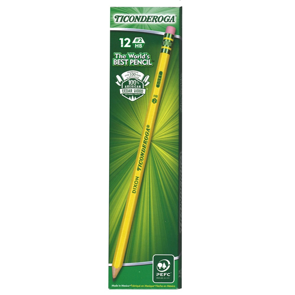DIX13806 - Dixon Ticonderoga #2 Pencils Pre Sharpened 1 Dozen in Pencils & Accessories