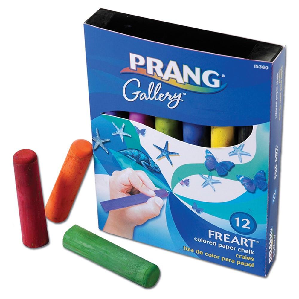 DIX15360 - Prang Freart Artist Chalk 12 Color Box in Chalk