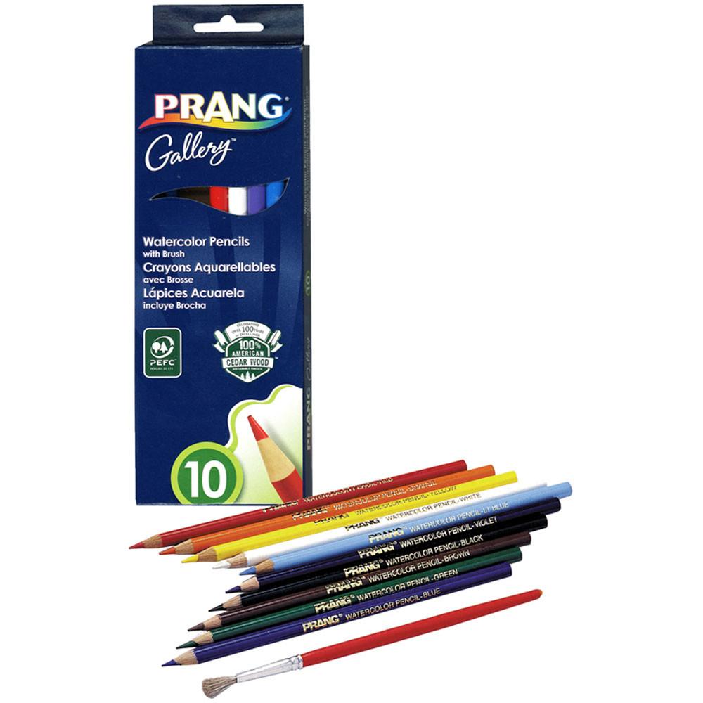 DIX23650 - Prang Watercolor Pencils 10 Colors in Colored Pencils