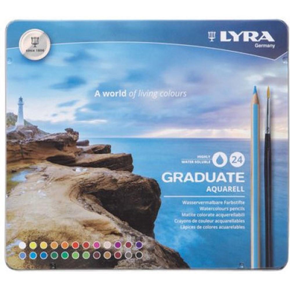 Graduate Aquarell Colored Pencils, Metal Box of 24 - DIX2881240 | Dixon Ticonderoga Company | Colored Pencils