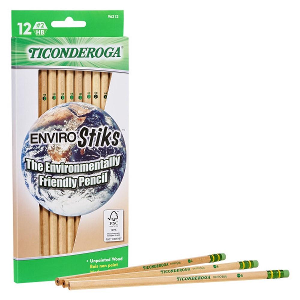 EnviroStik Pencils, #2 Soft, Pack of 12 - DIX96212 | Dixon Ticonderoga Company | Pencils & Accessories