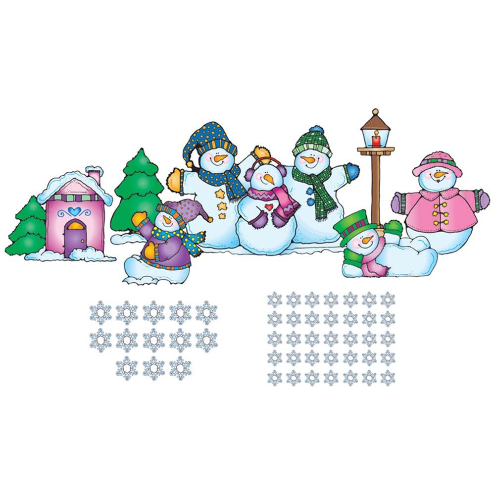 DJ-610018 - Bulletin Board Set Snow Pals in Holiday/seasonal