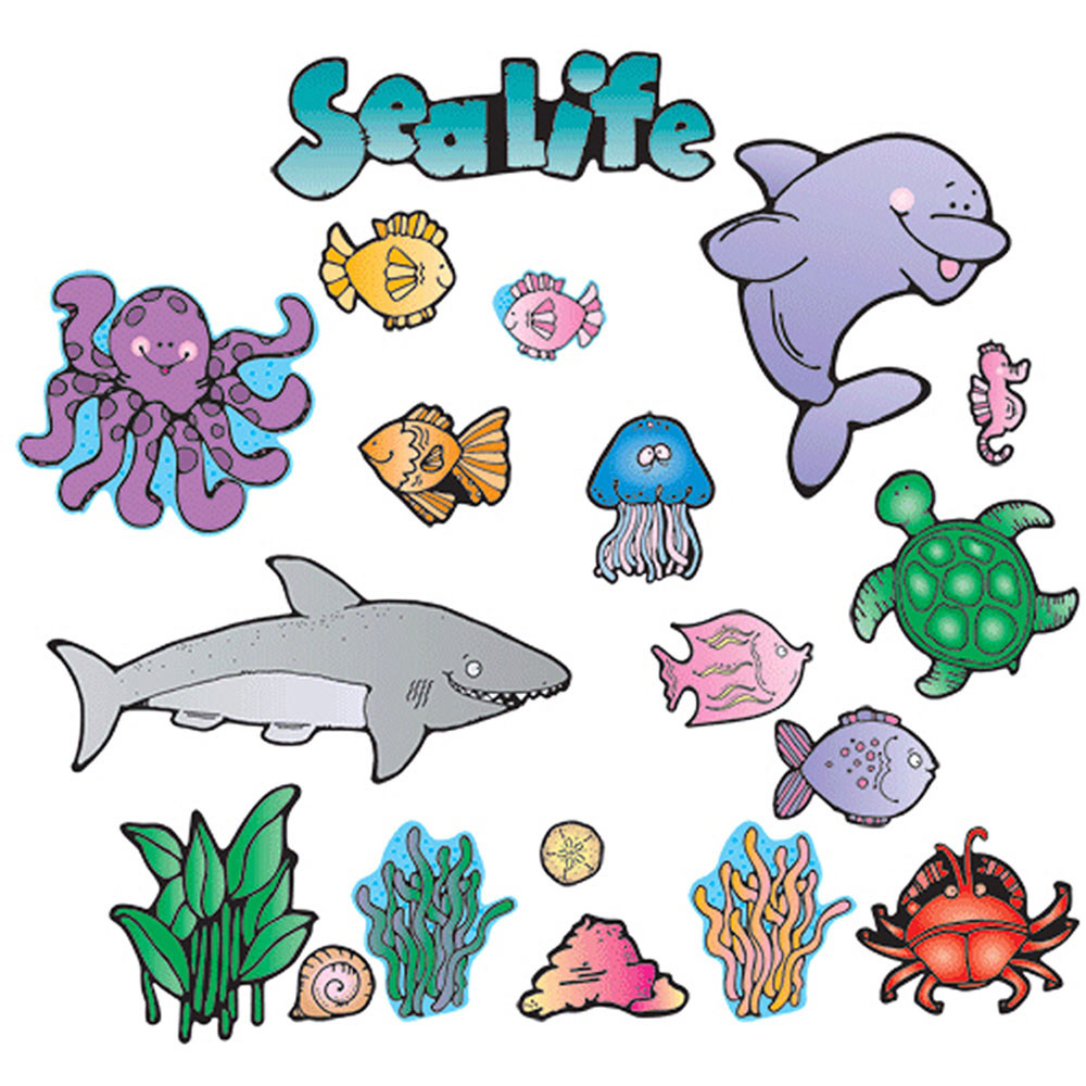 DJ-610032 - Sea Life Bulletin Board Set in Science