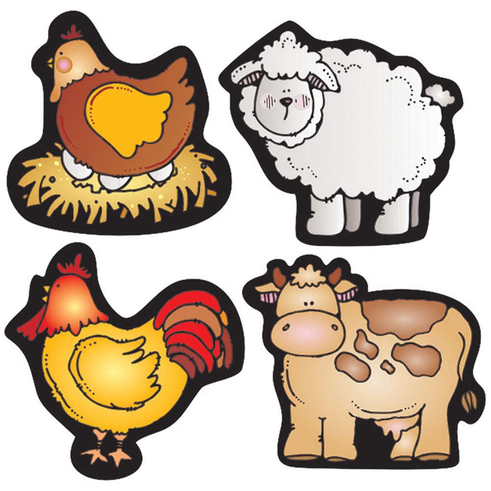 DJ-668032 - Farm Friends Shape Stickers in Stickers