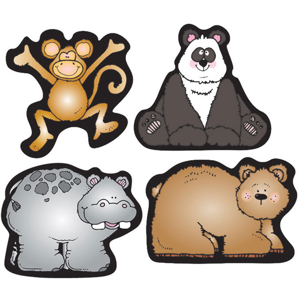 DJ-668033 - Zoo Friends Shape Stickers in Stickers