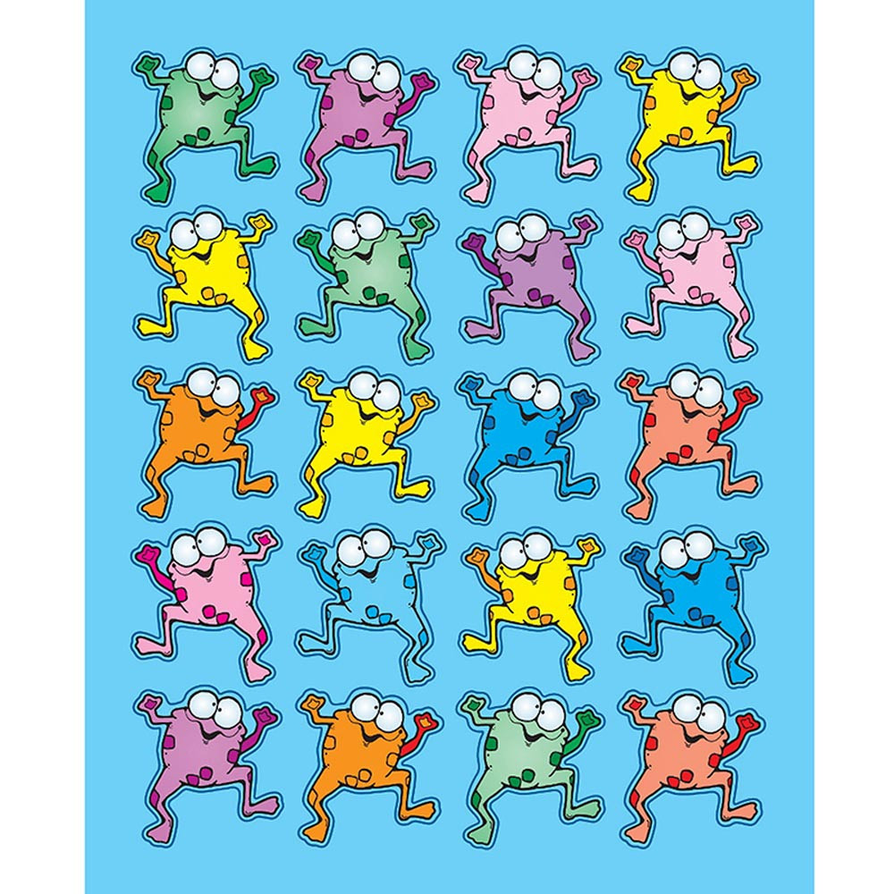 DJ-668035 - Colorful Froggies Stickers in Stickers