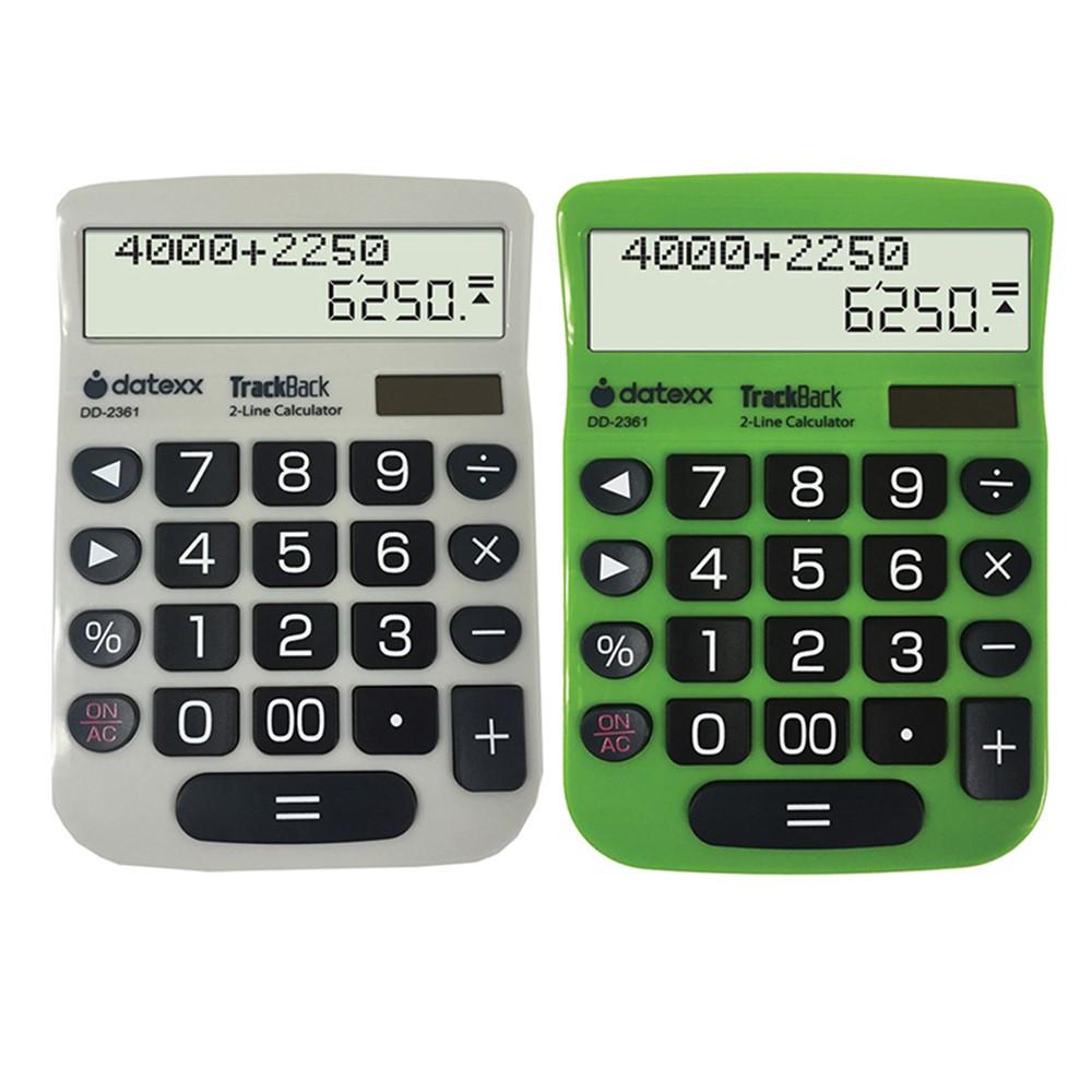 DTXDD2361 - 2 Line Trackback Desktop Calculator in Calculators