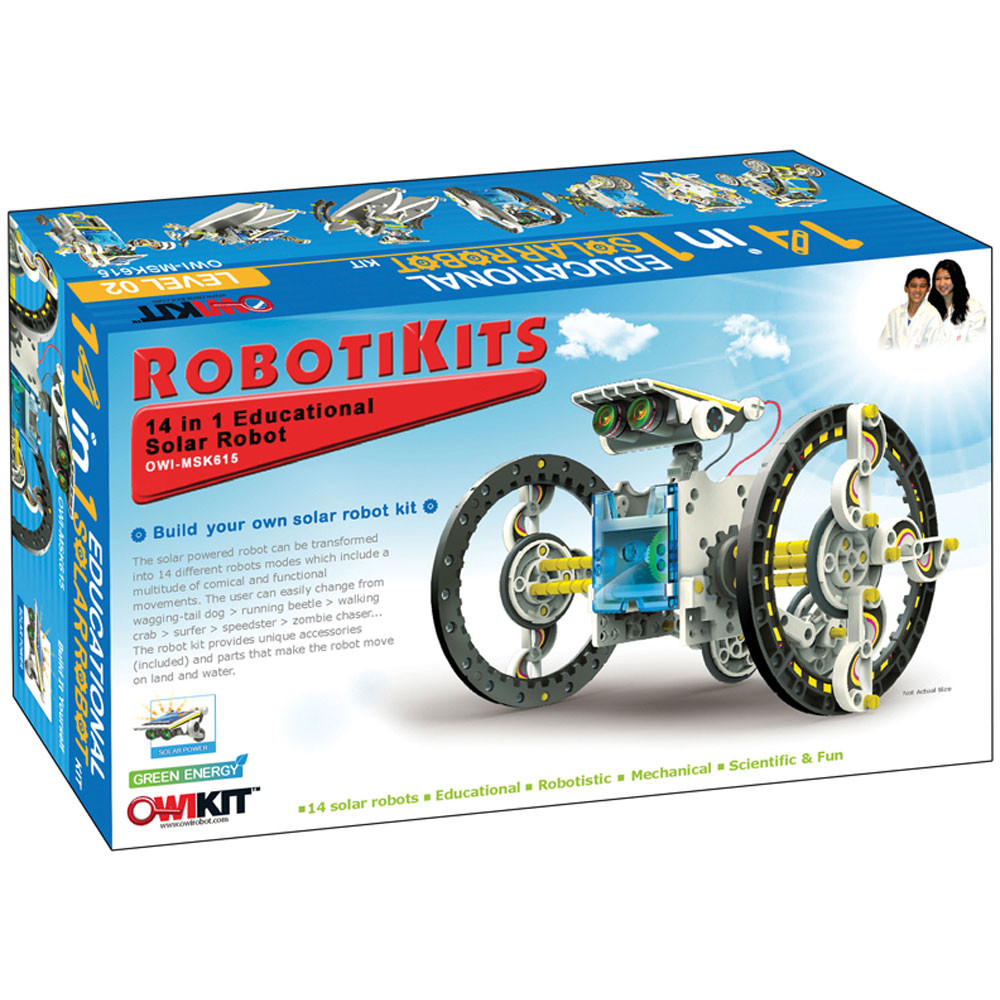 EE-OWIMSK615 - 14-In-1 Solar Robot in Experiments