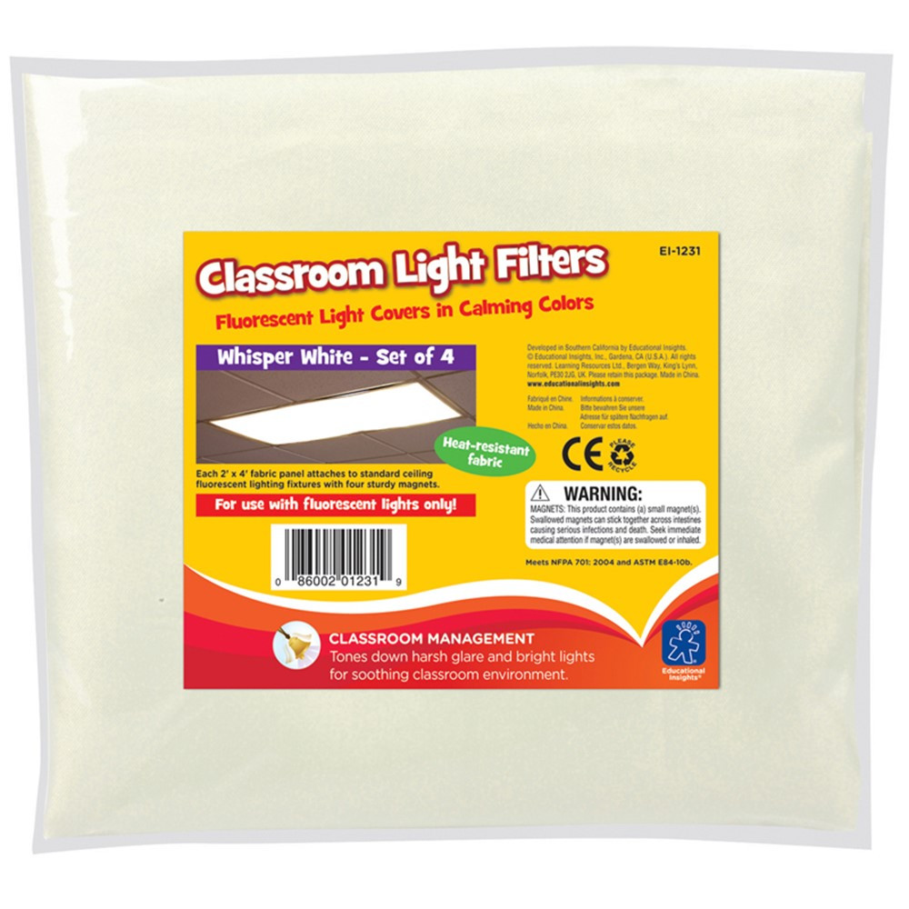 EI-1231 - Classroom Mood Filters 4/Set Whisper White in Accessories