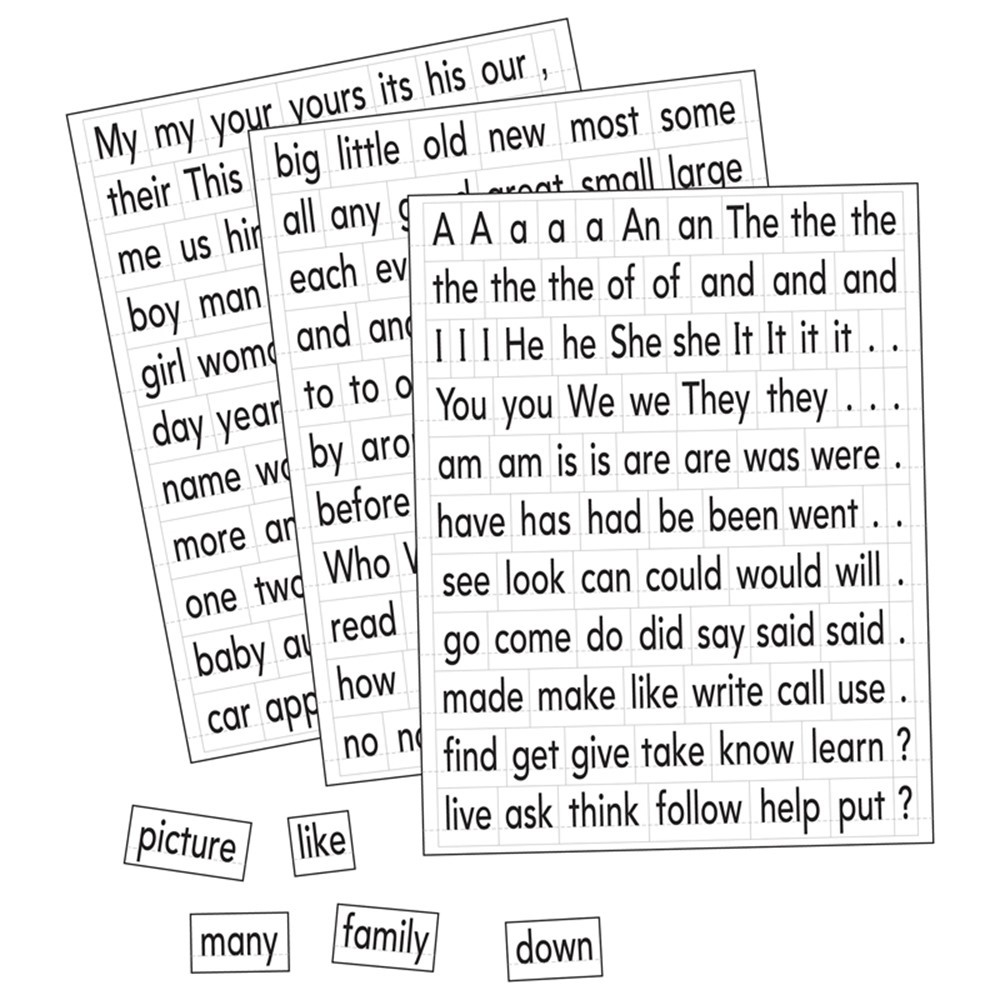 EI-1610 - Magnetic Sight Words & Sentence Builders in Sight Words