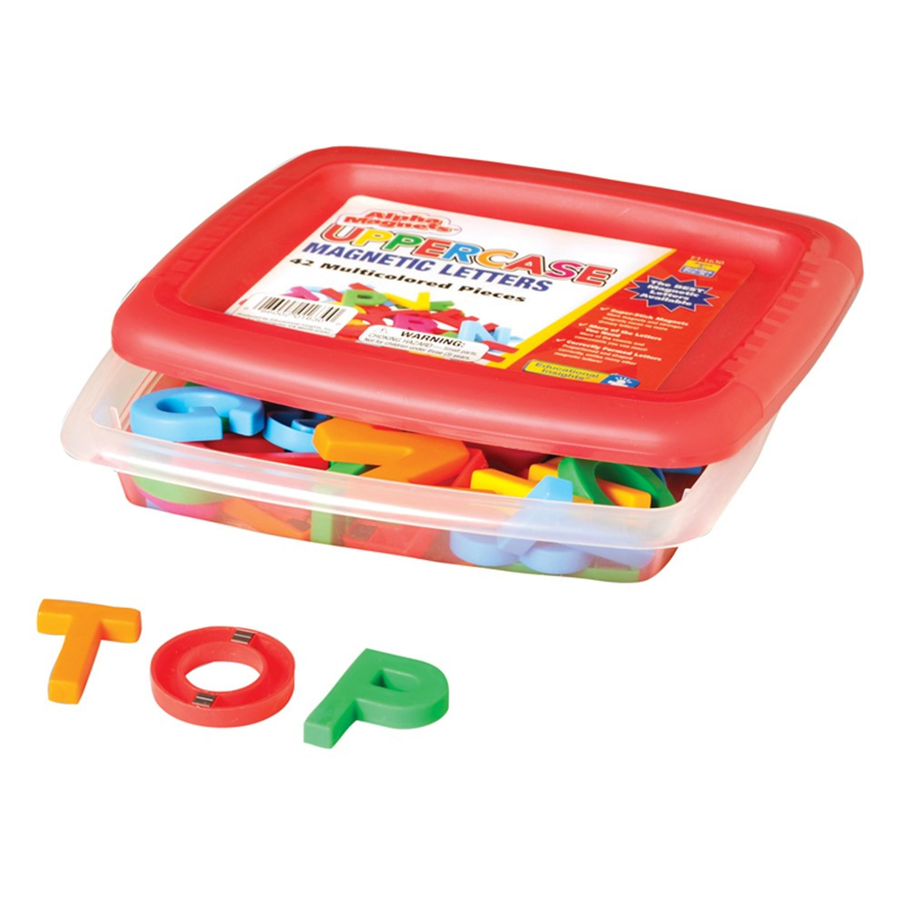 EI-1630 - Alphamagnets Uppercase 42 Pcs Multicolored in Magnetic Letters