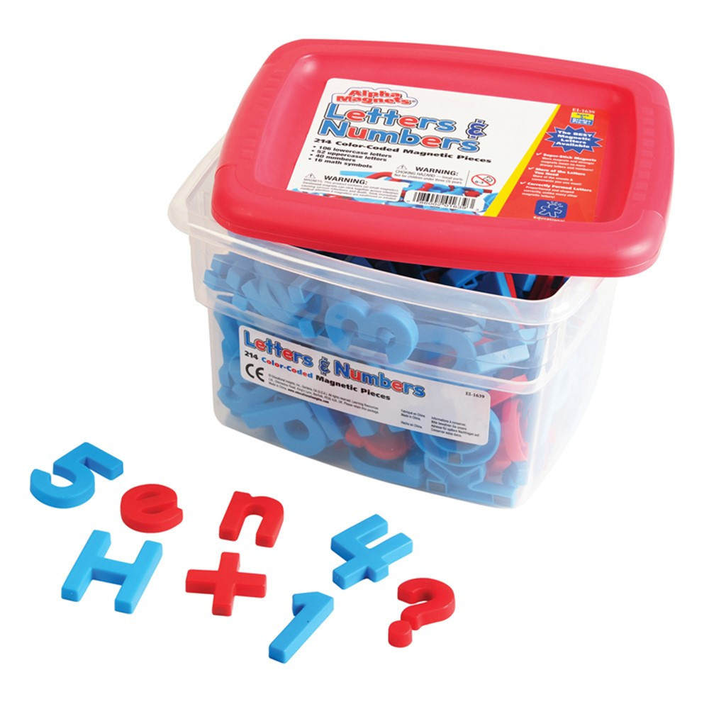 EI-1639 - Alpha And Mathmagnets Coded 214-Pk in Magnetic Letters