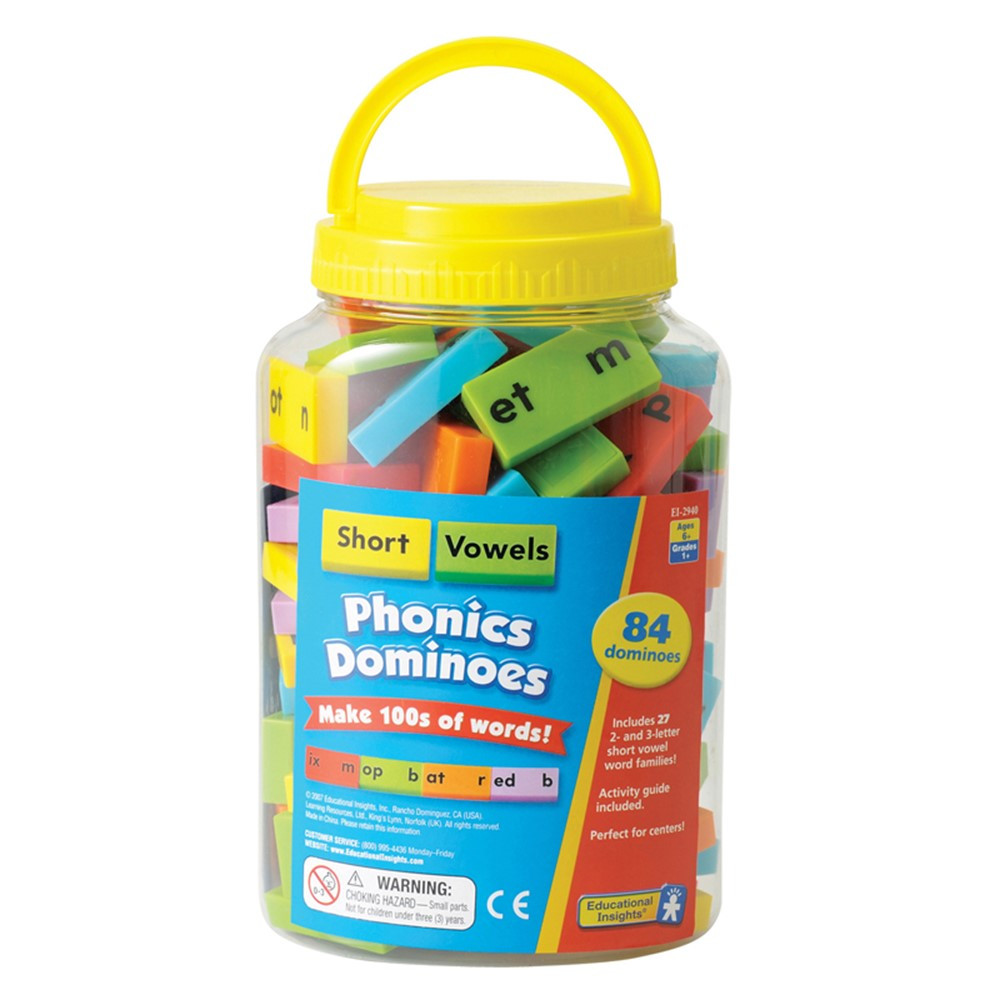 EI-2940 - Phonics Dominoes Short Vowels in Dominoes