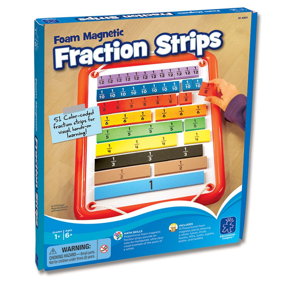 EI-4801 - Foam Magnetic Fraction Bars in Fractions & Decimals