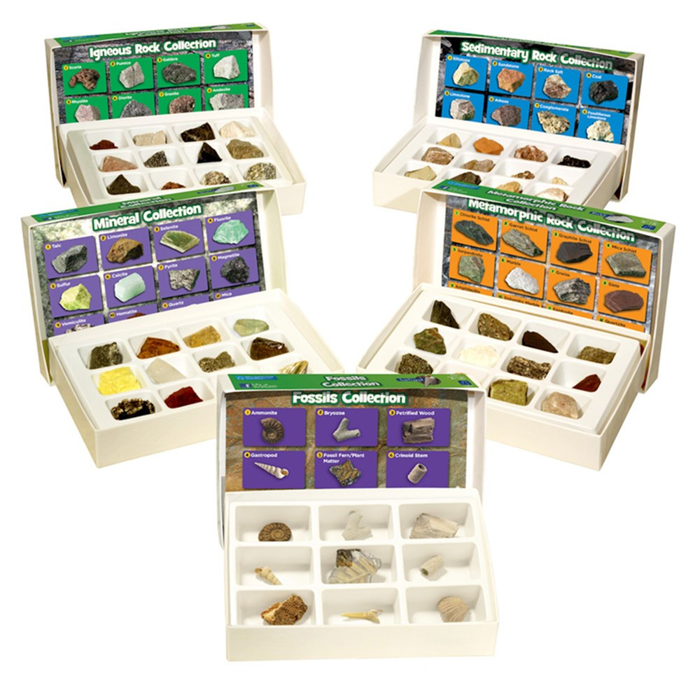 EI-5210 - Rock Mineral & Fossils Complete Collection in Earth Science